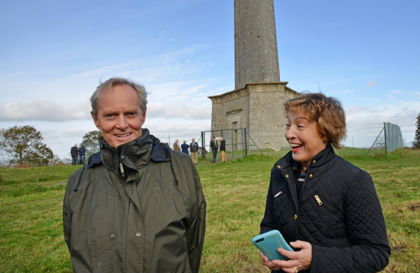 Rebecca Pow MP with the Current Duke of Wellington, Charles Wellesley