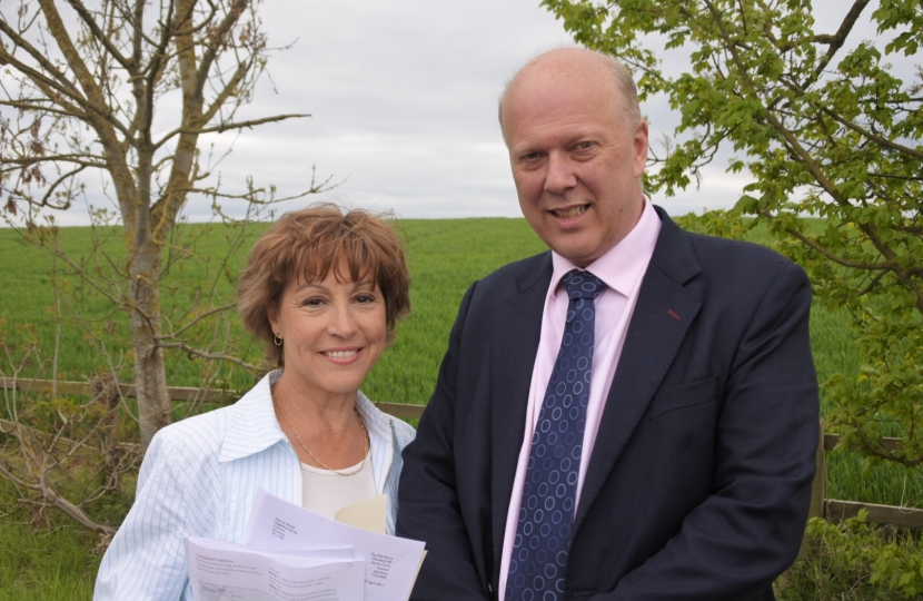 Rebecca Pow with Transport Secretary, Chris Grayling