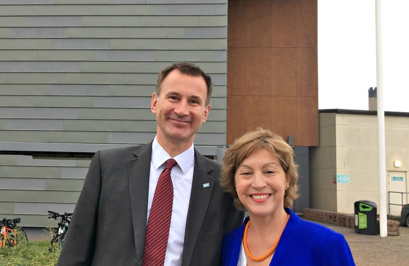 Rebecca Pow MP and Secretary of State for Health, Jeremy Hunt