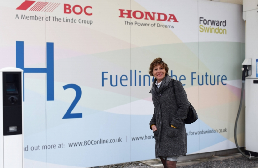 Rebecca Pow MP at Honda