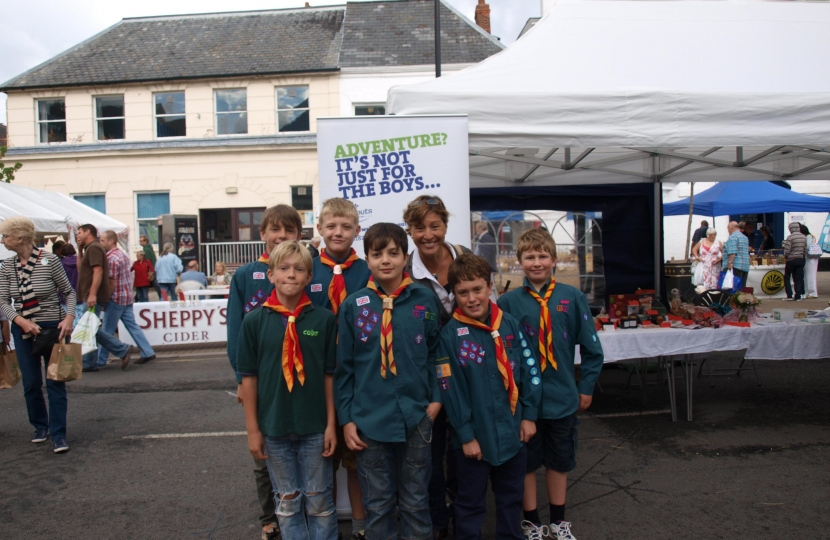 Rebecca Pow meets some of Wellington's 225 scouts at Wellington Food Town