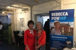 Rebecca Pow MP & Mayor of Taunton Deane, Vivienne Stock Williams