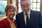 Rebecca Pow with DEFRA Secretary, Michael Gove