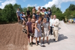 With young people and councillors at the Skatepark