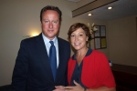Prime Minister David Cameron with Rebecca Pow